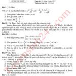 Đáp án đề thi môn Toán vào lớp 10 năm 2013 tại Hà Nội