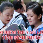 Điểm thi vào lớp 10 tỉnh Bình Phước