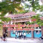 Điểm thi vào lớp 10 tỉnh Hải Phòng