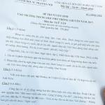 Đáp án đề thi vào lớp 10 môn Văn THPT chuyên Đại học Sư phạm Hà Nội