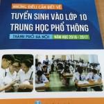 Hà Nội phát hành sách những điều cần biết về tuyển sinh vào lớp 10