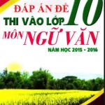 Đáp án + Đề thi môn Văn vào lớp 10 tại Hà Nội năm 2016