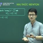 Video ôn thi THPT quốc Gia Môn Đại Số về Nhị Thức Newton