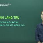 Video ôn thi THPT Quốc Gia Môn Hình học: Cách giải các bài tập về Hình Lăng Trụ.