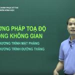 Video ôn thi THPT Quốc Gia: Phương pháp tọa độ trong không gian phần 1