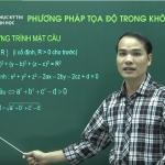 Video Ôn thi THPT Quốc Gia Môn Hình Học Phương Pháp tọa độ trong không gian phần 2