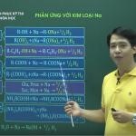 Video ôn thi Quốc Gia môn Hóa Phản ứng với Kim Loại Na