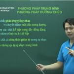 Video Ôn thi THPT Quốc Gia môn Hóa Giải Phương pháp trung bình và đường chéo