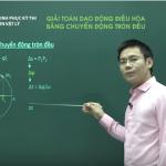Video ôn Thi quốc Gia môn Vật Lý: Giải bài tập giao động điều hòa bằng chuyển động tròn đều