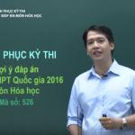 Chữa đề thi tốt nghiệp THPT Quốc Gia môn Hóa học năm 2016