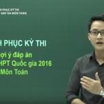 Chữa đề thi tốt nghiệp THPT Quốc Gia môn Toán năm 2016