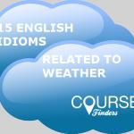 Thành ngữ tiếng Anh chủ đề thời tiết