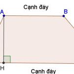 Công thức tính diện tích hình thang và chu vi hình thang – Toán lớp 8