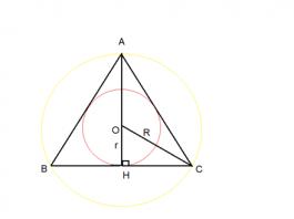 Công thức tính diện tích tam giác, bán kính các đường tròn nội tiếp tam giác, ngoại tiếp tam giác