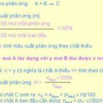 Công thức tính hiệu suất phản ứng hóa học dễ hiểu nhất