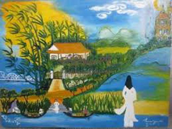 """Hình ảnh người con gái áo trắng trong bài thơ """"Đây thôn Vĩ Dạ"""" của Hàn Mặc Tử"""