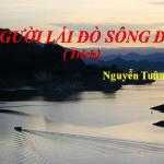 """Phân tích hình ảnh """" người lái đò """" trong tác phẩm Người lái đò sông Đà của Nguyễn Tuân"""
