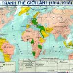 Bài tập trắc nghiệm Sử 11 Bài 6: Chiến tranh thế giới thứ nhất (1914 – 1918) – Đề cương ôn thi lịch sử lớp 11