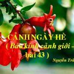 Phân tích bài thơ cảnh ngày hè của Nguyễn Trãi