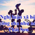 Nghị luận xã hội công cha như núi Thái Sơn