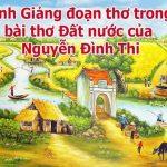 Bình giảng đoạn thơ trong bài Đất nước của Nguyễn Đình Thi