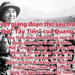 """Bình giảng đoạn thơ trong bài thơ """"Tây Tiến"""" của Quang Dũng"""