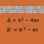 Công thức tính delta và delta phẩy phương trình bậc 2